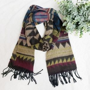 David and Young aztec print Soft Scarf